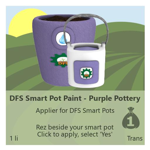 DFS Smart Pot Paint - Purple Pottery