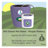 DFS Smart Pot Paint - Purple Pottery