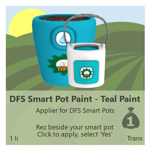 DFS Smart Pot Paint - Teal Paint
