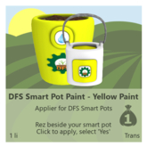 DFS Smart Pot Paint - Yellow Paint