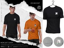 REINVENT I Meme cat t-shirt I Black [Belleza Jake, Signature Gianni, Legacy male (original & athletic)]