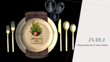 [ID]Christmas Place Setting w/ Plate Texture Switcher