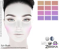 Zibska ~ Sylv Blush in 12 colors with Lelutka, Genus, LAQ, Catwa and Omega appliers and tattoo layers