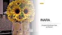 [ID] Orange & Sunflowers Vase w/ Resizer