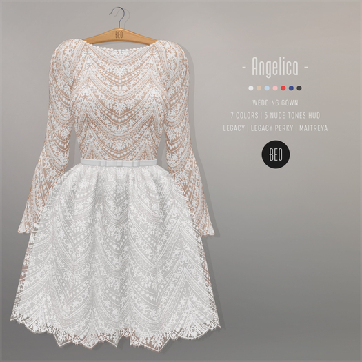 BEO - Angelica short gown WHITE