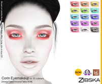 Zibska ~ Corin Eyemakeup in 15 colors with Omega appliers, tattoo and universal tattoo BOM layers