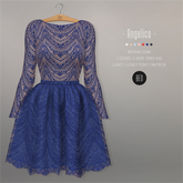 BEO - Angelica short gown BLUE