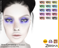 Zibska ~ Iskra Eyemakeup in 15 colors with Omega appliers, tattoo and universal tattoo BOM layers