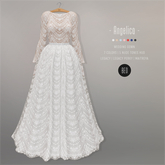 BEO - Angelica long gown WHITE