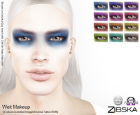Zibska ~ Weit Makeup in 12 colors with Lelutka, Omega and Universal Tattoo BOM layers