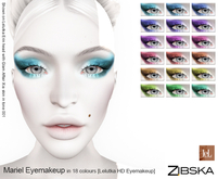 Zibska ~ Mariel Eyemakeup in 18 colors for Lelutka HD