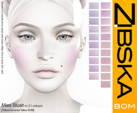 Zibska ~ Mies Blush in 21 colors in tattoo and universal tattoo BOM layers
