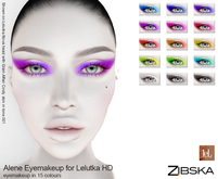 Zibska ~ Alene Eyemakeup in 15 colors for Lelutka HD