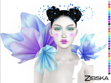 Zibska ~ Eveline Color Change Collar and Headpiece