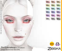 Zibska ~ Piri Eyemakeup in 18 colors with Omega appliers, tattoo & universal tattoo BOM layers