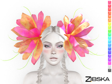 Zibska ~ Piri Color Change Flower Headpiece