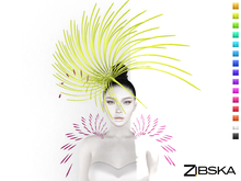 Zibska ~ Inez Color Change Headpiece and Shoulders