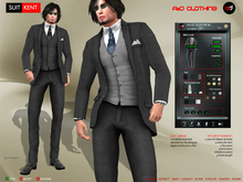 A&D Clothing - Suit -Kent- Charcoal