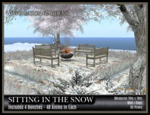 TMG - SITTING IN THE SNOW* Seating Area for 8 Avatars