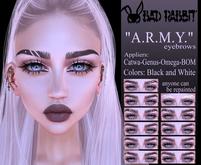 """.:Bad Rabbit:. Eyebrows """"A.R.M.Y."""" (Catwa, Genus, Omega, BOM)"""