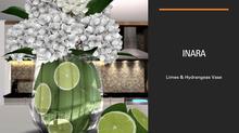 [ID] Limes & Hydrangeas Vase