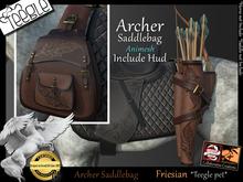 *.* Archer saddlebag-Teegle-Friesian  - wear to unpack
