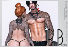 .R.Bento. -Broken Royals TAT -Head/Upper Body- BOM HUD unpacker