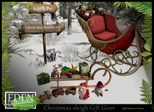 (*.*) Christmas sleigh Gift Giver - wear to unpack