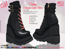 NC :: Saory Platform Ankle Boots [HUD]