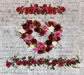 Red Rose Heart and Swag decorations ,,box