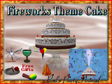 FIREWORKS GIFT GIVER (Theme Changing BIRTH,REZ +MORE) CAKE