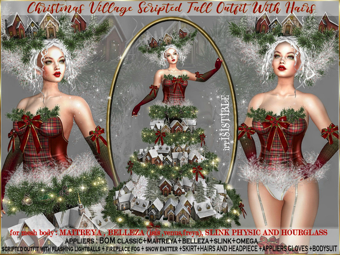 irrISIStible : CHRISTMAS VILLAGE OUTFIT 2 STYLES WITH HAIRS 2021