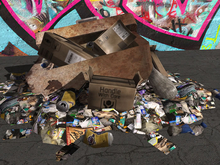 Fridge Junk Pile - 2 Prim - Mesh