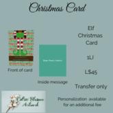 Elf Christmas Card(bagged)