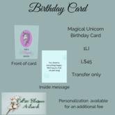 Unicorn Magic Birthday Card (bagged)