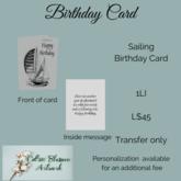 Sailing Birthday Card (bagged)