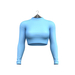 Little Fox - Turtleneck crop top // sky