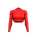 Little Fox - Turtleneck crop top // red