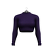 Little Fox - Turtleneck crop top // plum