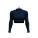 Little Fox - Turtleneck crop top // cobalt