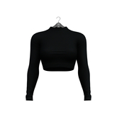 Little Fox - Turtleneck crop top // black
