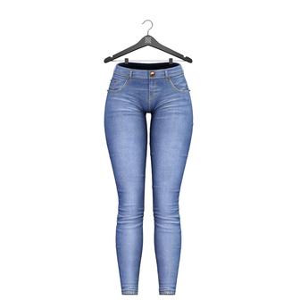 Little Fox - Skinny low jeans // sky