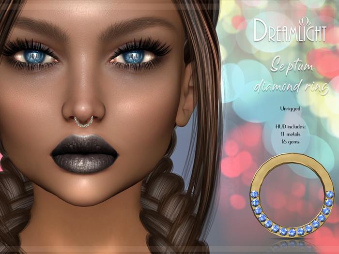 [Dreamlight] Septum Diamond Ring