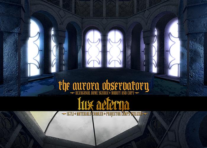 + LUX AETERNA [The Aurora Observatory]