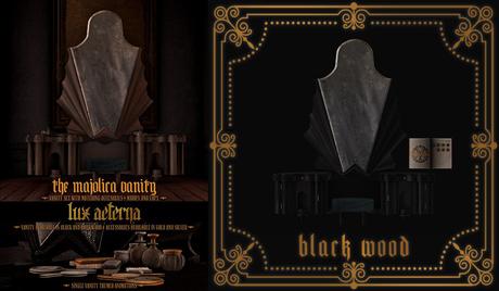 + LUX AETERNA [The Majolica Vanity] Black Wood