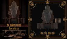 + LUX AETERNA [The Majolica Vanity] Dark Wood