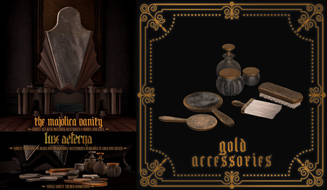 + LUX AETERNA [The Majolica Vanity] Accessories GOLD Rez me