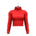 Little Fox - Taylor cropped turtleneck // red