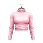 Little Fox - Taylor cropped turtleneck // pink