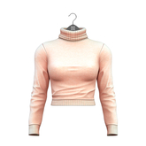 Little Fox - Taylor cropped turtleneck // nude